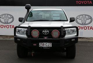 2017 Toyota Landcruiser VDJ200R MY16 GX (4x4) Glacier White 6 Speed Automatic Wagon.