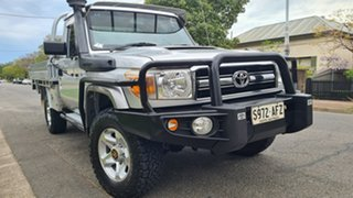 2010 Toyota Landcruiser VDJ79R 09 Upgrade GXL (4x4) Silver 5 Speed Manual Cab Chassis.