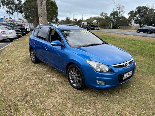 Used Hyundai i30 FD MY11 SLX cw Wagon Clontarf, 2011 Hyundai i30 FD MY11 SLX cw Wagon Blue 4 Speed Automatic Wagon