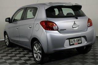 2013 Mitsubishi Mirage LA MY14 LS Cool Silver 1 Speed Constant Variable Hatchback