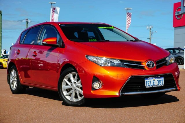 Used Toyota Corolla ZRE182R Ascent Sport S-CVT Osborne Park, 2014 Toyota Corolla ZRE182R Ascent Sport S-CVT Orange 7 Speed Constant Variable Hatchback