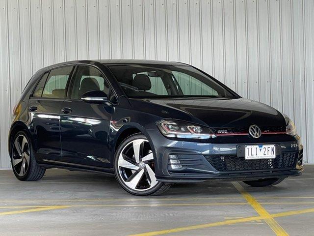 Used Volkswagen Golf 7.5 MY18 GTI DSG Moorabbin, 2018 Volkswagen Golf 7.5 MY18 GTI DSG Blue 6 Speed Sports Automatic Dual Clutch Hatchback