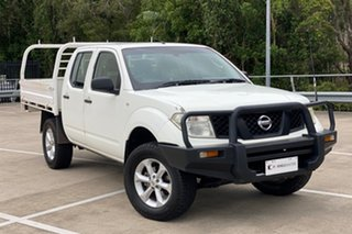2007 Nissan Navara D40 RX (4x4) White 6 Speed Manual Dual Cab Pick-up.