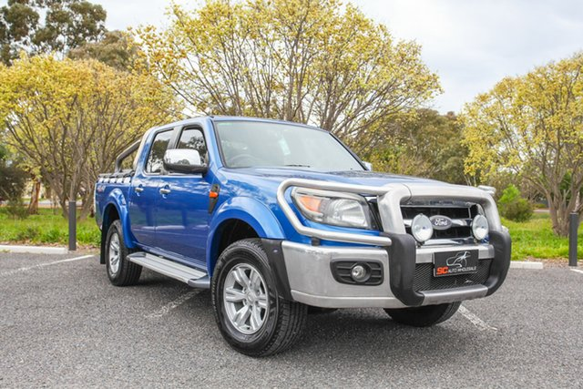 Used Ford Ranger PK XLT Crew Cab Lonsdale, 2010 Ford Ranger PK XLT Crew Cab Blue 5 Speed Automatic Utility