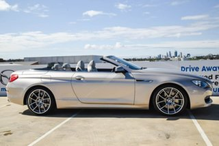 2012 BMW 6 Series F12 MY0911 640i Steptronic Silver, Chrome 8 Speed Sports Automatic Convertible