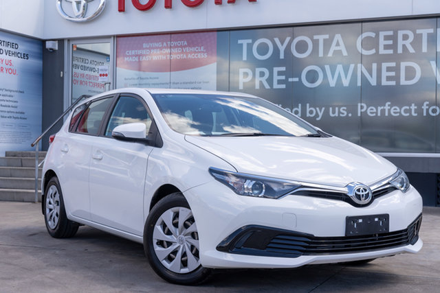 Pre-Owned Toyota Corolla ZRE182R Ascent S-CVT Guildford, 2018 Toyota Corolla ZRE182R Ascent S-CVT Glacier White 7 Speed Constant Variable Hatchback