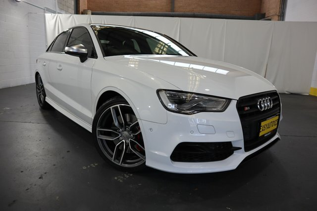 Used Audi S3 8V MY15 S Tronic Quattro Castle Hill, 2014 Audi S3 8V MY15 S Tronic Quattro White 6 Speed Sports Automatic Dual Clutch Sedan