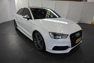 2014 Audi S3 8V MY15 S Tronic Quattro White 6 Speed Sports Automatic Dual Clutch Sedan.