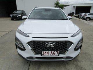 2020 Hyundai Kona OS.3 MY20 Elite 2WD White 6 Speed Sports Automatic Wagon.