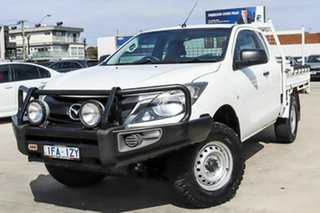 2015 Mazda BT-50 UR0YF1 XT Freestyle White 6 Speed Sports Automatic Cab Chassis.