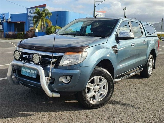 Used Ford Ranger PX XLT Double Cab Bungalow, 2014 Ford Ranger PX XLT Double Cab Blue 6 Speed Sports Automatic Utility