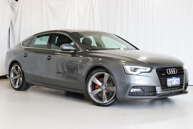 Used Audi A5 8T MY12 Sportback S Tronic Quattro Wangara, 2012 Audi A5 8T MY12 Sportback S Tronic Quattro Grey 7 Speed Sports Automatic Dual Clutch Hatchback