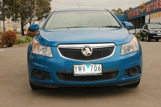 2012 Holden Cruze JH MY12 CD Blue 5 Speed Manual Sedan.