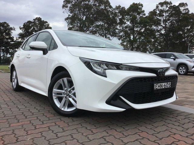 Pre-Owned Toyota Corolla Mzea12R Ascent Sport Warwick Farm, 2020 Toyota Corolla Mzea12R Ascent Sport White 10 Speed Constant Variable Hatchback
