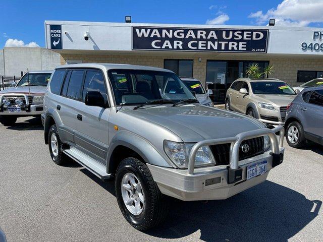Used Toyota Landcruiser Prado VZJ95R GXL (4x4) Wangara, 2000 Toyota Landcruiser Prado VZJ95R GXL (4x4) Silver 4 Speed Automatic 4x4 Wagon