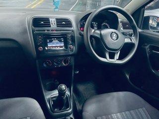 2015 Volkswagen Polo 6R MY16 66TSI Trendline Black 5 Speed Manual Hatchback.