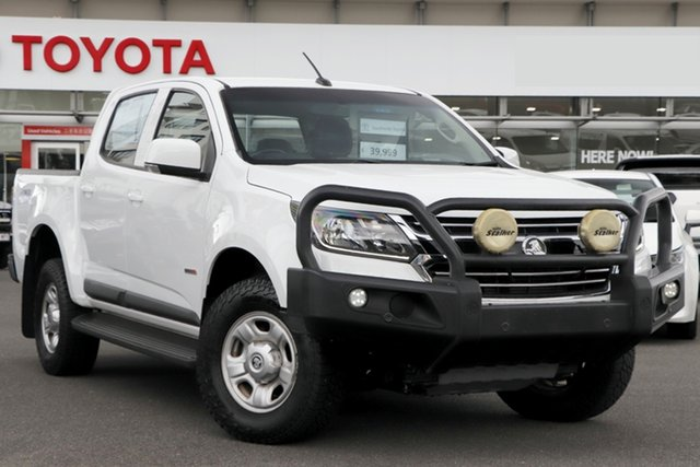Pre-Owned Holden Colorado RG MY19 LS Pickup Crew Cab Upper Mount Gravatt, 2019 Holden Colorado RG MY19 LS Pickup Crew Cab White 6 Speed Sports Automatic Utility