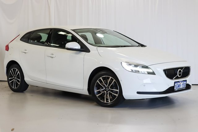 Used Volvo V40 M Series MY18 T3 Adap Geartronic Momentum Wangara, 2018 Volvo V40 M Series MY18 T3 Adap Geartronic Momentum White 6 Speed Sports Automatic Hatchback