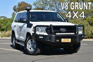 2018 Toyota Landcruiser VDJ200R GX White 6 Speed Sports Automatic Wagon.