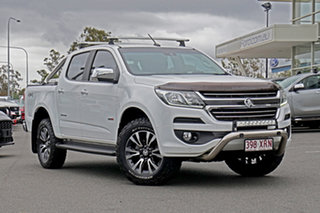 2017 Holden Colorado RG MY18 Storm Pickup Crew Cab White 6 Speed Manual Utility.
