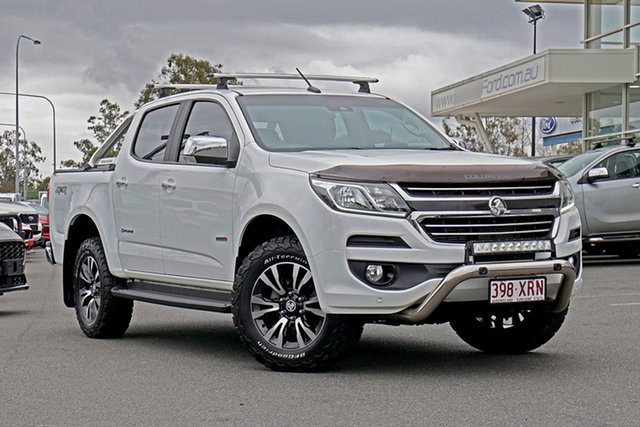 Used Holden Colorado RG MY18 Storm Pickup Crew Cab Ebbw Vale, 2017 Holden Colorado RG MY18 Storm Pickup Crew Cab White 6 Speed Manual Utility