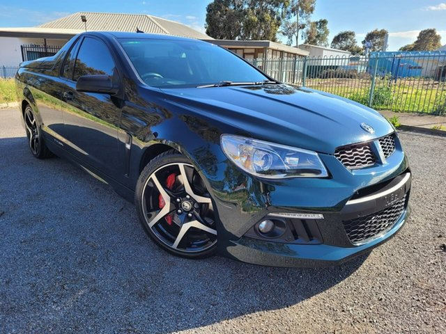 Used Holden Special Vehicles Maloo Gen-F MY14 R8 Elizabeth, 2013 Holden Special Vehicles Maloo Gen-F MY14 R8 Green 6 Speed Manual Utility