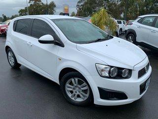 2016 Holden Barina TM MY16 CD White 5 Speed Manual Hatchback.