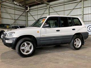 1999 Toyota RAV4 SXA11R White 4 Speed Automatic Wagon.