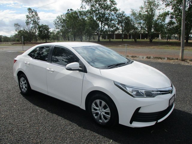 Pre-Owned Toyota Corolla ZRE172R MY17 Ascent Roma, 2018 Toyota Corolla ZRE172R MY17 Ascent Glacier White 7 Speed CVT Auto Sequential Sedan