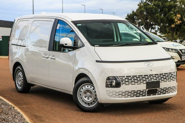 New Hyundai Staria-Load US4.V1 MY22 Rockingham, 2021 Hyundai Staria-Load US4.V1 MY22 Creamy White 8 Speed Sports Automatic Van