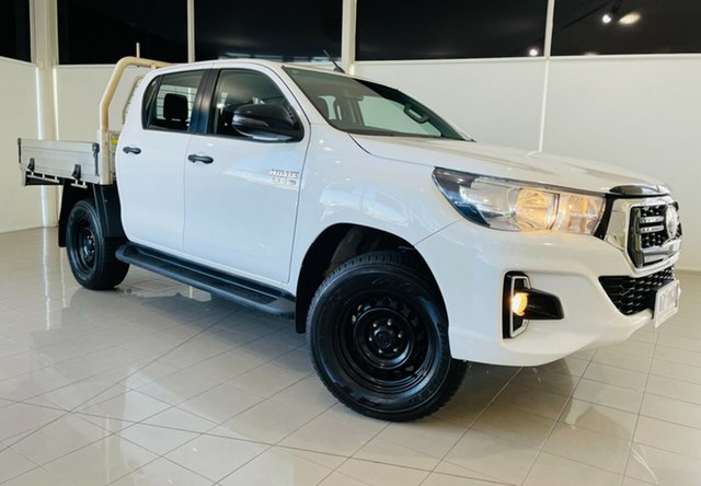Used Toyota Hilux GUN126R SR Double Cab Deer Park, 2018 Toyota Hilux GUN126R SR Double Cab White 6 Speed Sports Automatic Cab Chassis