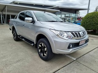 2015 Mitsubishi Triton MQ MY16 Exceed Double Cab Silver 5 Speed Sports Automatic Utility.