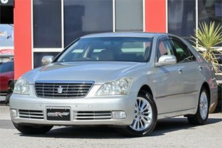 2004 Toyota Crown GSR182 Royal Silver 6 Speed Automatic Sedan.