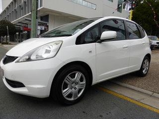 2008 Honda Jazz GE GLi White 5 Speed Automatic Hatchback.