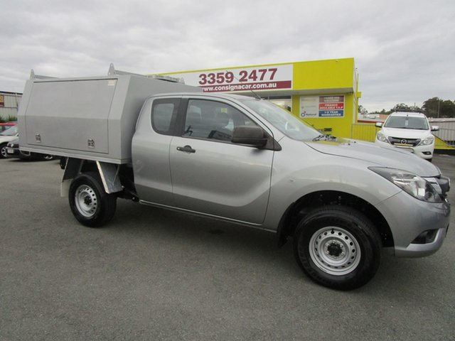 Used Mazda BT-50 UR0YG1 XT Freestyle 4x2 Hi-Rider Kedron, 2017 Mazda BT-50 UR0YG1 XT Freestyle 4x2 Hi-Rider Silver 6 Speed Sports Automatic Cab Chassis