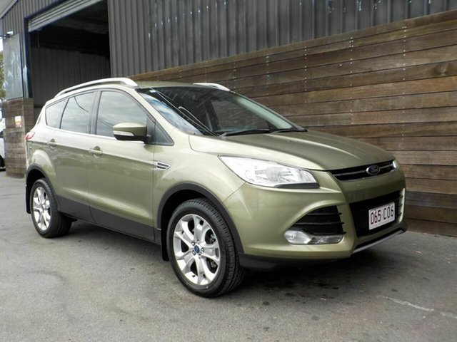Used Ford Kuga TF Trend AWD Labrador, 2013 Ford Kuga TF Trend AWD Green 6 Speed Sports Automatic Wagon