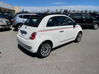 2010 Fiat 500 C White 6 Speed Manual Convertible