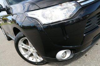 2012 Mitsubishi Outlander ZH MY12 LS Black 6 Speed Constant Variable Wagon.