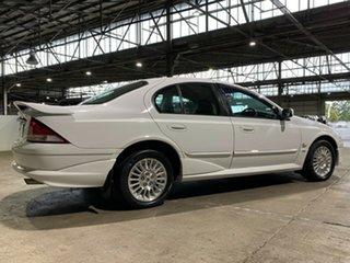 1998 Ford Fairmont AU Ghia White 4 Speed Automatic Sedan