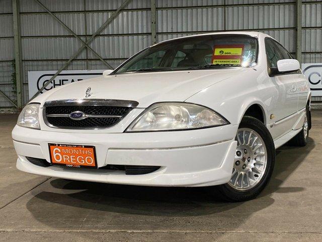 Used Ford Fairmont AU Ghia Rocklea, 1998 Ford Fairmont AU Ghia White 4 Speed Automatic Sedan