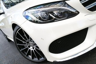 2015 Mercedes-Benz C-Class W205 806MY C200 7G-Tronic + White 7 Speed Sports Automatic Sedan.