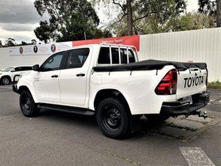 2018 Toyota Hilux GUN126R SR Double Cab Glacier White 6 Speed Sports Automatic Utility.