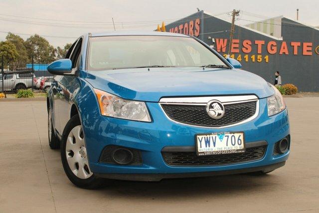Used Holden Cruze JH MY12 CD West Footscray, 2012 Holden Cruze JH MY12 CD Blue 5 Speed Manual Sedan