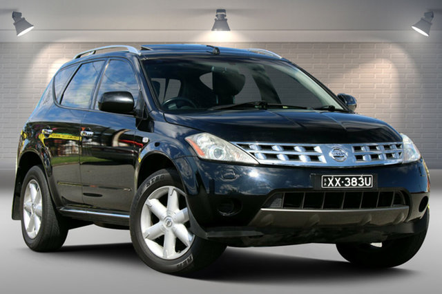 Used Nissan Murano Z50 TI Gepps Cross, 2008 Nissan Murano Z50 TI Black 6 Speed Constant Variable Wagon