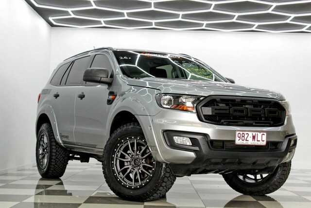 Used Ford Everest UA Ambiente Burleigh Heads, 2015 Ford Everest UA Ambiente Silver 6 Speed Automatic SUV