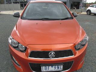2013 Holden Barina TM MY14 RS Orange 6 Speed Sports Automatic Hatchback.