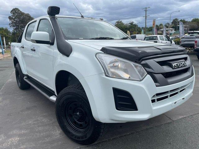 Used Isuzu D-MAX MY19 SX Crew Cab Gympie, 2019 Isuzu D-MAX MY19 SX Crew Cab White 6 Speed Sports Automatic Utility