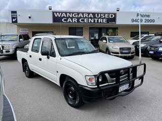 2002 Toyota Hilux LN147R White 5 Speed Manual Dual Cab Pick-up.