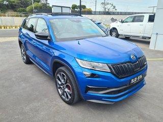 2020 Skoda Kodiaq NS MY21 RS DSG Blue 7 Speed Sports Automatic Dual Clutch Wagon