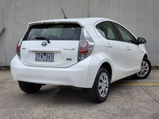 2013 Toyota Prius c NHP10R E-CVT White 1 Speed Constant Variable Hatchback Hybrid.